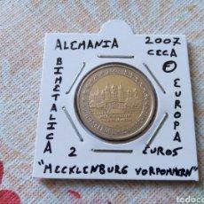 Euros: MONEDA 2 EUROS ALEMANIA 2007 CECA F MECKLEMBURG VORPOMMERN MBC ENCARTONADA. Lote 253082070