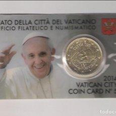 Euros: MONEDA DE 50 CÉNTIMOS DE CIUDAD DEL VATICANO DE 2014. COINCARD OFICIAL. FRANCISCO. Lote 283140688