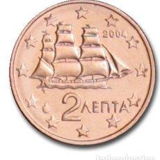 Euros: MONEDA 2 CTS GRECIA 2004 - SIN CIRCULAR. Lote 254045355
