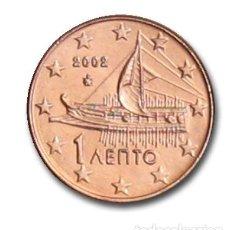 Euros: MONEDA 1 CT GRECIA 2002 - SIN CIRCULAR. Lote 254046520