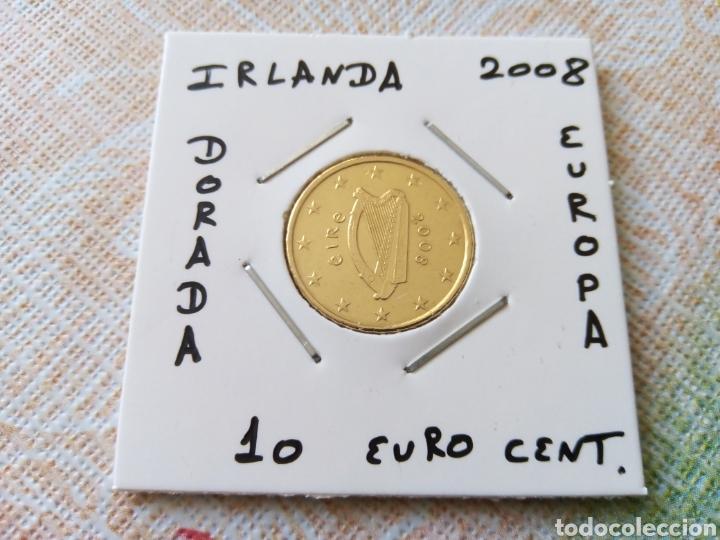 MONEDA 10 EURO CENT IRLANDA 2008 MBC ENCARTONADA (Numismática - España Modernas y Contemporáneas - Ecus y Euros)