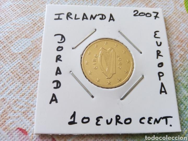 MONEDA 10 EURO CENT IRLANDA 2007 MBC ENCARTONADA (Numismática - España Modernas y Contemporáneas - Ecus y Euros)