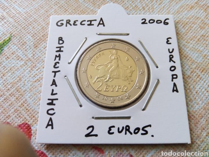 MONEDA 2 EUROS GRECIA 2006 MBC ENCARTONADA (Numismática - España Modernas y Contemporáneas - Ecus y Euros)