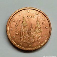 Euros: ESPAÑA. 2 CÉNTIMOS DE EURO. EXCESO METAL EN EL 20 DE LA FECHA.. Lote 254647980