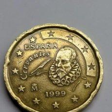 Euros: ESPAÑA. 20 CTS. EURO - 1999. EXCESO ENTRE 2 Y 0 REVERSO.. Lote 254648025