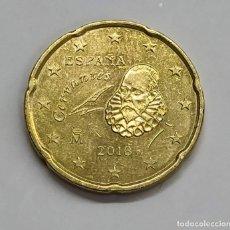 Euros: ESPAÑA. 20 CTS. EURO - 2018. EXCESO DE METAL EN LA OREJA.. Lote 254648070