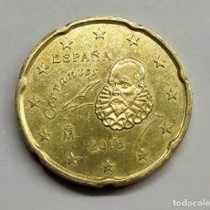 Euros: ESPAÑA. 20 CTS. EURO - 2018. EXCESO DE METAL EN REINO UNIDO.. Lote 254648090