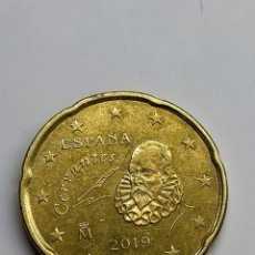 Euros: ESPAÑA. 20 CTS. EURO - 2019. EXCESO DE METAL EN LA CABEZA.. Lote 254648105