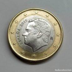 "Euros: FELIPE VI. 1 EURO 2019. EXTRAÑA AURA EN EL ""1"" DEL REVERSO.. Lote 254648275"