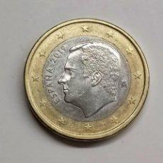 "Euros: FELIPE VI. 1 EURO. 2019. EL ""1"" DEL REVERSO CON ERRORES.. Lote 254648290"