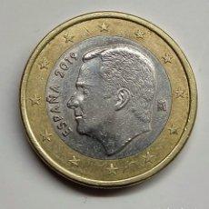 Euros: FELIPE VI. 1 EURO. 2019. DOBLE PERFIL EN ANVERSO. MUY RARA.. Lote 254648300