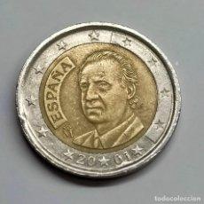 Euros: J.CARLOS I. 2 EUROS. 2001. ERROR EN FECHA Y DOS DE SUS ESTRELLAS.. Lote 254648310