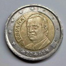 Euros: J. CARLOS I. 2 EUROS 2002. ERROR EN ESTRELLAS, FECHA Y ESTRELLAS DEL REVERSO.. Lote 254648330