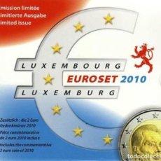Euros: CARTERA LUXEMBURGO 2010 - 9 VALORES - EMSION ESPECIAL TIRADA 2.500 CARTERAS. Lote 254664165