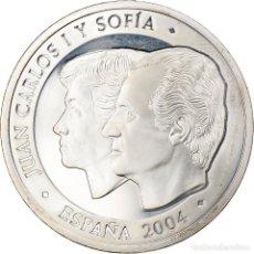 Euros: ESPAÑA, 10 EURO, JUAN CARLOS I Y SOFIA, 2004, MADRID, BE, FDC, PLATA, KM:1059. Lote 254666875