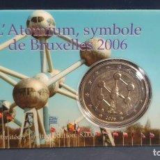 Euros: COINCARD 2 EUROS BELGICA 2006 - ATOMIUM - TIRADA 8.000. Lote 254667350