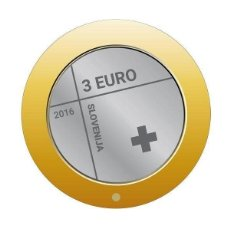 Euros: MONEDA 3 EUROS ESLOVENIA 2016 - CRUZ ROJA. Lote 255399500