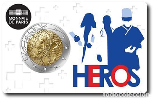 FRANCIA 2 EUROS 2020 INVESTIGACIÓN MÉDICA ( HEROES ) (Numismática - España Modernas y Contemporáneas - Ecus y Euros)