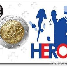 Euros: FRANCIA 2 EUROS 2020 INVESTIGACIÓN MÉDICA ( HEROES ). Lote 257414705
