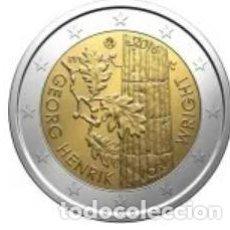 Euros: MONEDA 2 EUROS FINLANDIA 2016 - GEORG HENRIK WRIGHT - SIN CIRCULAR. Lote 257759885