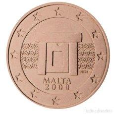 Euros: MONEDA 1 CT MALTA 2008 - SIN CIRCULAR. Lote 296594733