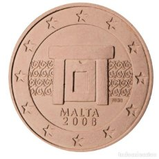 Euros: MONEDA 2 CTS MALTA 2008 - SIN CIRCULAR. Lote 296594818