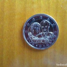 Euro: 2 EUROS -LUXEMBURGO 2021- MATRIMONIO GRAN DUQUE ENRIQUE Y GRAN DUQUESA MARÍA TERESA -RELIEVE- S/C. Lote 259263390
