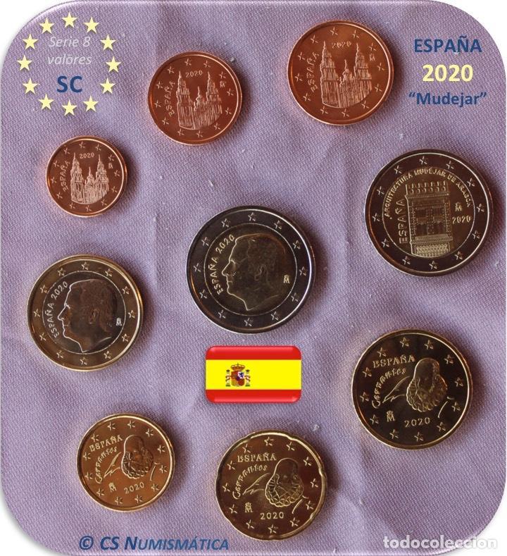 """SERIE ESPAÑA 2020 SC + 2€ CONMEMORATIVA 2020 """"ARTE MUDEJAR"""" (Numismática - España Modernas y Contemporáneas - Ecus y Euros)"""