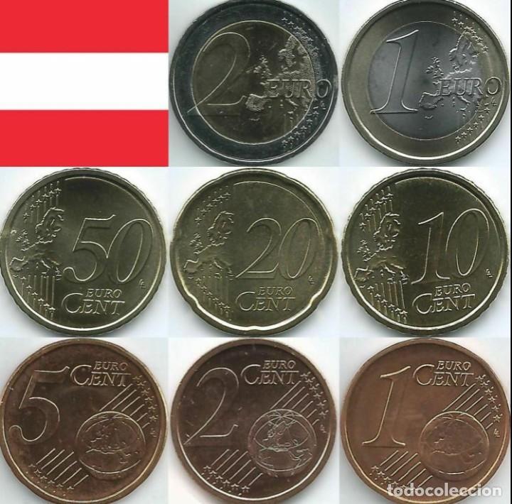 SERIE AUSTRIA 2021 - 8 VALORES SIN CIRCULAR (Numismática - España Modernas y Contemporáneas - Ecus y Euros)