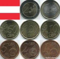 Euros: SERIE AUSTRIA 2021 - 8 VALORES SIN CIRCULAR. Lote 262811570