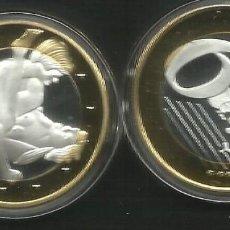 Euros: MONEDA EROTICA DE FANTASIA- PRUEBA - 6 EUROS SEX- KAMASUTRA - TOKEN SEXY - MODELO 7. Lote 264727034