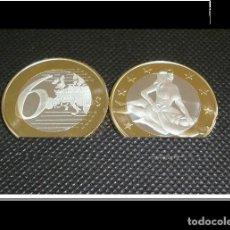 Euros: MONEDA EROTICA DE FANTASIA- PRUEBA - 6 EUROS SEX- KAMASUTRA - TOKEN SEXY - MODELO 9. Lote 264727344