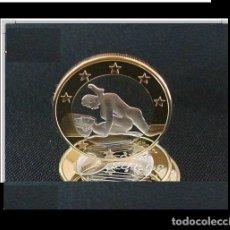 Euros: MONEDA EROTICA DE FANTASIA- PRUEBA - 6 EUROS SEX- KAMASUTRA - TOKEN SEXY - MODELO 1. Lote 264727424