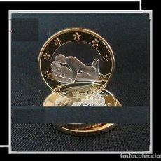 Euros: MONEDA EROTICA DE FANTASIA- PRUEBA - 6 EUROS SEX- KAMASUTRA - TOKEN SEXY - MODELO 2. Lote 264727569