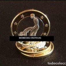 Euros: MONEDA EROTICA DE FANTASIA- PRUEBA - 6 EUROS SEX- KAMASUTRA - TOKEN SEXY - MODELO 28. Lote 264727779