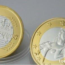 Euros: MONEDA EROTICA DE FANTASIA- PRUEBA - 6 EUROS SEX- KAMASUTRA - TOKEN SEXY - MODELO 27. Lote 264727849