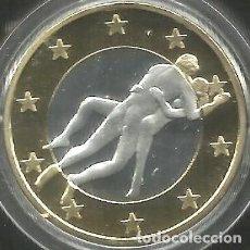 Euros: MONEDA EROTICA DE FANTASIA- PRUEBA - 6 EUROS SEX- KAMASUTRA - TOKEN SEXY - MODELO 23. Lote 264727944