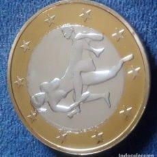 Euros: MONEDA EROTICA DE FANTASIA- PRUEBA - 6 EUROS SEX- KAMASUTRA - TOKEN SEXY - MODELO 25. Lote 264728019