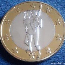Euros: MONEDA EROTICA DE FANTASIA- PRUEBA - 6 EUROS SEX- KAMASUTRA - TOKEN SEXY - MODELO 29. Lote 264728294