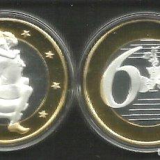 Euros: MONEDA EROTICA DE FANTASIA- PRUEBA - 6 EUROS SEX- KAMASUTRA - TOKEN SEXY - MODELO 20. Lote 264728919