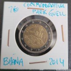 Euros: MONEDA DE ESPAÑA 2 EUROS CONMEMORATIVA PARK GÜELL 2014. Lote 266035073