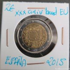 Euros: MONEDA DE ESPAÑA 2 EUROS CONMEMORATIVA XXXANIV. BANDERA EUROPA ESPAÑA 2015. Lote 266035423
