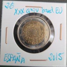 Euros: MONEDA DE ESPAÑA 2 EUROS CONMEMORATIVA XXXANIV. BANDERA EUROPA ESPAÑA 2015. Lote 266035433