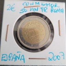 Euros: MONEDA DE ESPAÑA 2 EUROS CONMEMORATIVA 50 ANIVERSARIO TRATADO DE ROMA ESPAÑA 2007. Lote 266035518