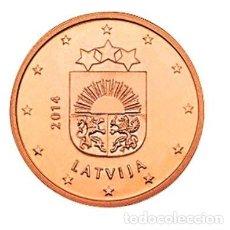 Euro: MONEDA 1 CT LETONIA 2014 - SIN CIRCULAR. Lote 266542218