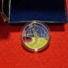 Euros: MONEDA PLATA 10 EUROS 2007 PROOF EUROBASKET BALONCESTO FNMT ORIGINAL. Lote 268123939