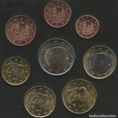 Euros: ESPAÑA 2021 - SERIE EUROS EN TIRA - 8 MONEDAS SIN CIRCULAR. Lote 268918009
