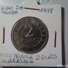 "Euros: PRUEBA DE MONEDA DE 2 EUROS ""CHURRIANA"" 1998. Lote 268990069"