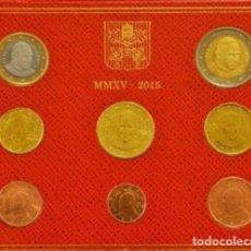 Euros: CARTERA VATICANO 2015 - 8 VALORES SIN CIRCULAR. Lote 269022384