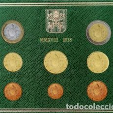 Euros: CARTERA VATICANO 2018 - 8 VALORES SIN CIRCULAR. Lote 269023209
